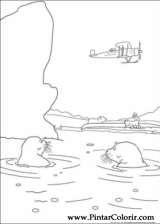Pintar e Colorir O Ursinho Polar - Desenho 006