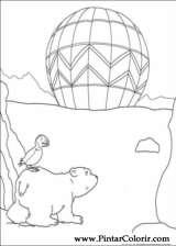 Pintar e Colorir O Ursinho Polar - Desenho 013