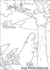 Pintar e Colorir O Ursinho Polar - Desenho 016