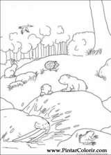 Pintar e Colorir O Ursinho Polar - Desenho 025