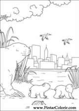 Pintar e Colorir O Ursinho Polar - Desenho 026