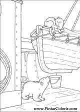 Pintar e Colorir O Ursinho Polar - Desenho 035