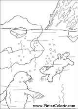 Pintar e Colorir O Ursinho Polar - Desenho 037