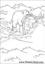 Pintar e Colorir O Ursinho Polar - Desenho 040