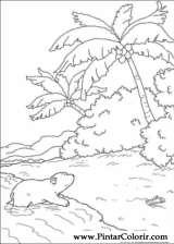 Pintar e Colorir O Ursinho Polar - Desenho 042