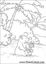 Pintar e Colorir O Ursinho Polar - Desenho 046