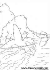 Pintar e Colorir O Ursinho Polar - Desenho 056