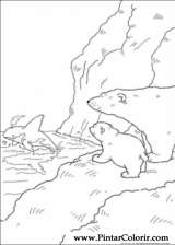 Pintar e Colorir O Ursinho Polar - Desenho 057