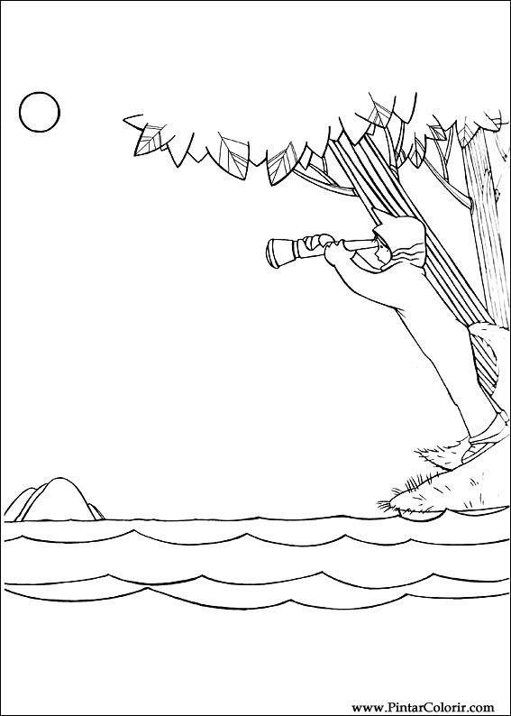 Dibujos para pintar y Color Dónde el salvaje - Diseño Imprimir 003