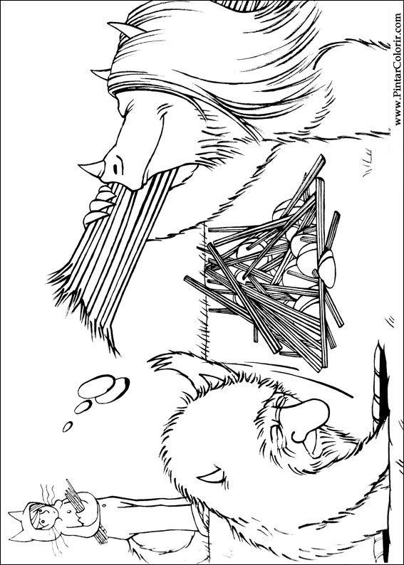 Dibujos para pintar y Color Dónde el salvaje - Diseño Imprimir 013