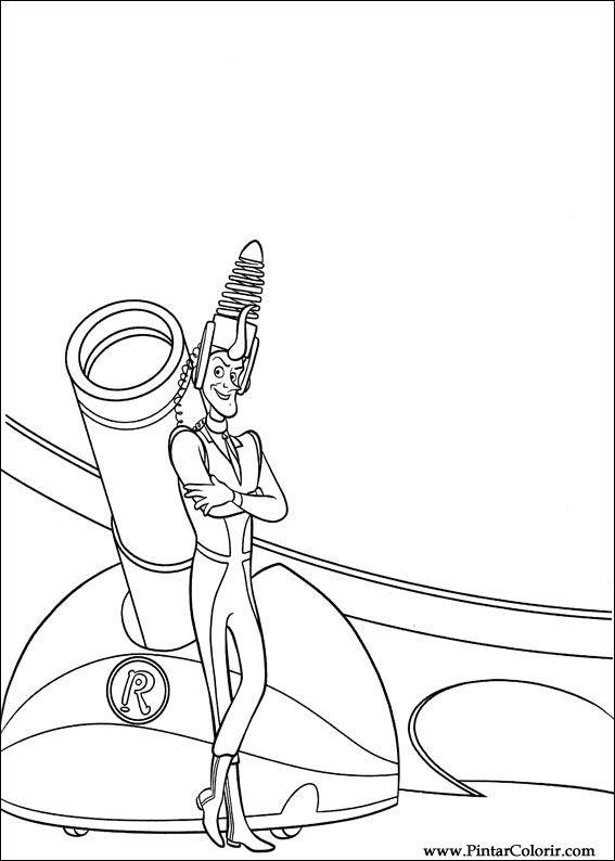 Pintar e Colorir Os Robinsons - Desenho 021