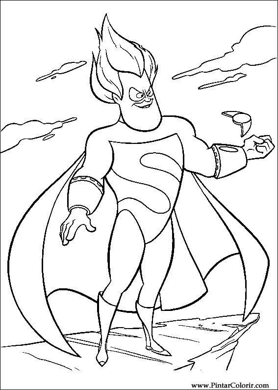 çizimler Boya Ve Renk Super Heroes Için Baskı Tasarım 016