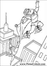Pintar e Colorir Os Super Herois - Desenho 003
