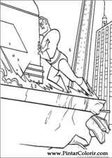 Pintar e Colorir Os Super Herois - Desenho 006