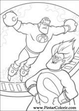 Pintar e Colorir Os Super Herois - Desenho 034