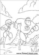 Pintar e Colorir Os Super Herois - Desenho 037