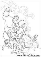 Pintar e Colorir Os Super Herois - Desenho 039