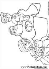 Pintar e Colorir Os Super Herois - Desenho 040