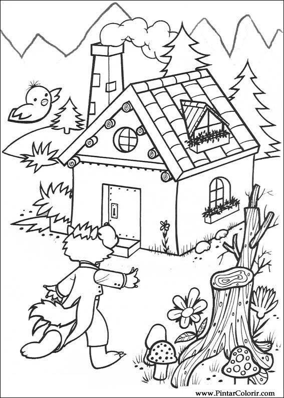 Dessins De Peindre Et Couleur Les Trois Petits Cochons Imprimer