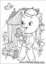 Pintar e Colorir Os Tres Porquinhos - Desenho 002