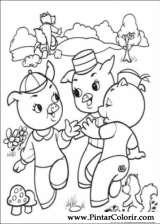 Pintar e Colorir Os Tres Porquinhos - Desenho 005