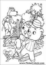Pintar e Colorir Os Tres Porquinhos - Desenho 007