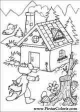 Pintar e Colorir Os Tres Porquinhos - Desenho 008