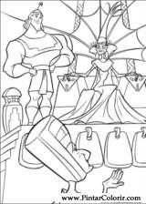 Pintar e Colorir Pacha E O Imperador - Desenho 001