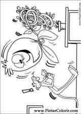 Pintar e Colorir Pantera Cor De Rosa - Desenho 006