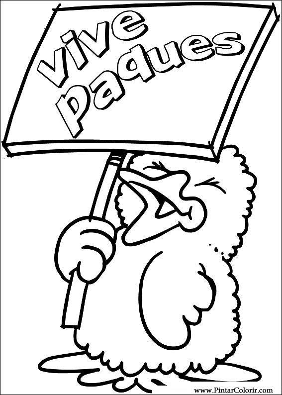 Tekeningen Te Schilderen Kleur Pasen Print Design 025