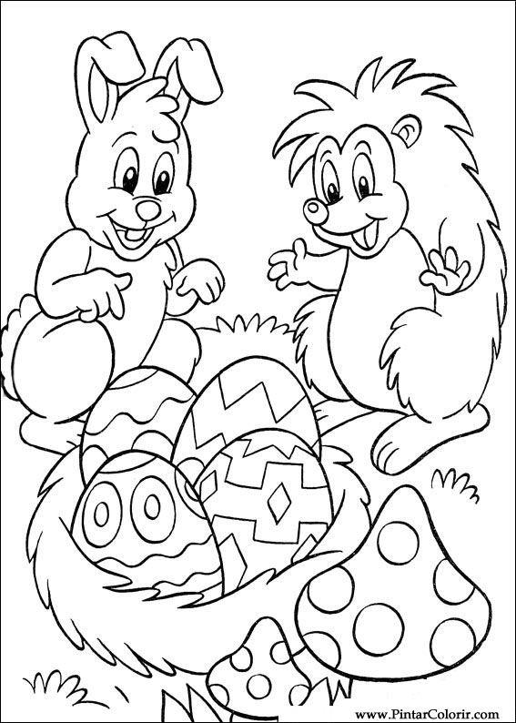 Tekeningen Te Schilderen Kleur Pasen Print Design 044