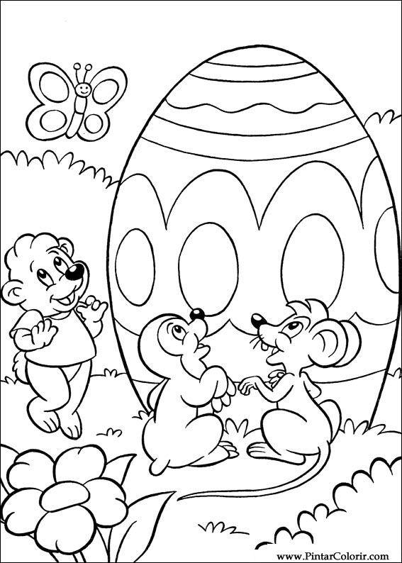 Kleurplaten Afdrukken Pasen.Tekeningen Te Schilderen Kleur Pasen Print Design 057