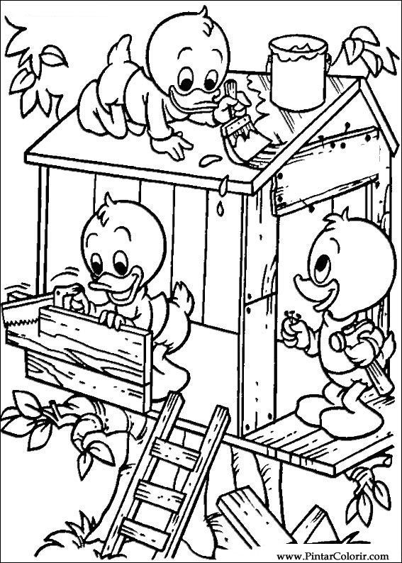 Cizimler Boya Ve Renk Donald Duck Icin Baski Tasarim 105