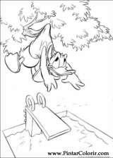 Pintar e Colorir Pato Donald - Desenho 001