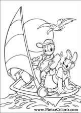 Pintar e Colorir Pato Donald - Desenho 007