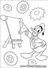 Pintar e Colorir Pato Donald - Desenho 018