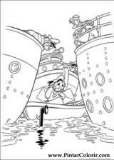 Pintar e Colorir Pato Donald - Desenho 043