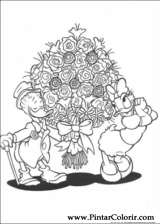 Pintar e Colorir Pato Donald - Desenho 060