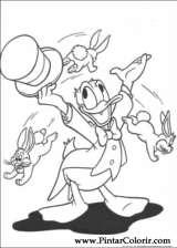 Pintar e Colorir Pato Donald - Desenho 072