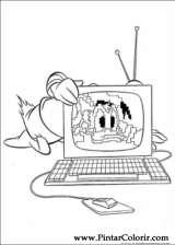 Pintar e Colorir Pato Donald - Desenho 077