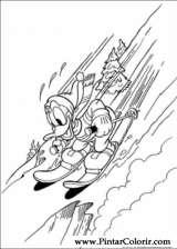 Pintar e Colorir Pato Donald - Desenho 078
