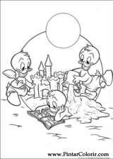 Pintar e Colorir Pato Donald - Desenho 079