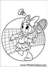 Pintar e Colorir Pato Donald - Desenho 080