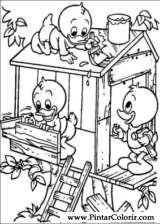 Pintar e Colorir Pato Donald - Desenho 105