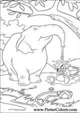 Pintar e Colorir Pato Donald - Desenho 124
