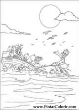 Pintar e Colorir Pato Donald - Desenho 127