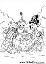 Pintar e Colorir Pato Donald - Desenho 140