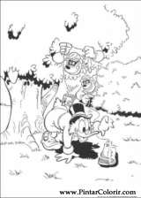 Pintar e Colorir Pato Donald - Desenho 145