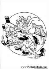 Pintar e Colorir Pato Donald - Desenho 146