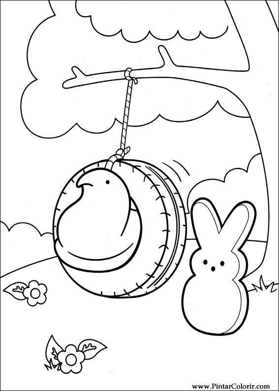 Pintar e Colorir Peeps - Desenho 001